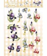 Early spring knipvel 2st irises en tulips