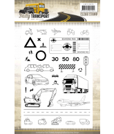 Amy Design daily transport clearstamps afbeeldingen