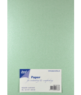 Joy Papierset Metallic licht groen (a5 20vel)