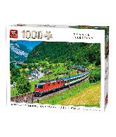 Puzzel Intercity train, Gotthard Baste (1000 stukjes)