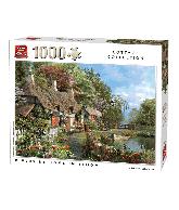Puzzel Riverside in Bloom (1000 stukjes)