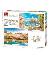 Puzzel 2in1 1000 pcs, city collection
