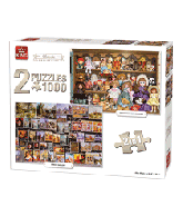 Puzzle 2 in 1, 1000 pcs, classic collection