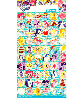 Sticker sheet paper My Little Pony