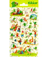 Sticker sheet paper Kikker & vriendjes