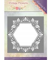 JA Vintage flowers snijmal floral hexagon