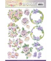 JA Vintage flowers pushout romantic purple