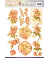 JA Vintage flowers pushout sweetheart vintage