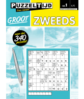 Puzzelboek zweeds groot nr. 1
