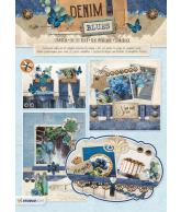A4 Stansblok 67 Denim Blues