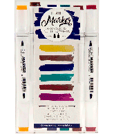Charm - Box 6 water based dual tip markers bright