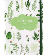 Bullet journaling green leaves