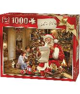 Legpuzzel 1000 pcs kerstpuzzel onder de kerstboom