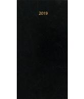 Zakagenda Minitimer staand 2019 zwart nr 404