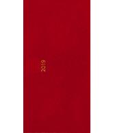 Zakagenda pockettimer liggend 2019 rood nr 303