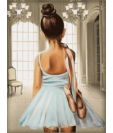Diamond painting ballerina 30x40cm