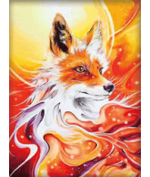 Diamond painting fire fox 30x40cm
