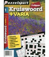Puzzelpocket 50/50 kruiswoord + varia 3 stippen nr 1.