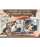 Stansblok A5 winter trails 6 kaarten met folie opdruk