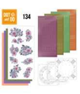 Dot and do 134 Paarse bloemen
