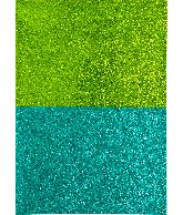 Glitterpapier A4 groen 2 tinten 4 vel