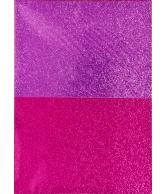 Glitterpapier A4 roze 2 tinten 4 vel