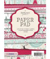 A6 paper pad blok 93 kerst rood 36 vel 12 designs 200gr