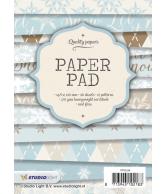A6 paper pad blok 94 kerst blauw 36 vel 12 designs 200gr