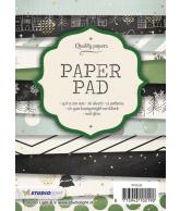 A6 paper pad blok 95 kerst zwart 36 vel 12 designs 200gr