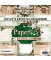 Paper pad 92 woodland winter 15x15cm 36vel 12 designs