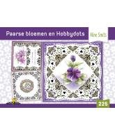 Hobbydols 225 Paarse bloemen inclusief stickers
