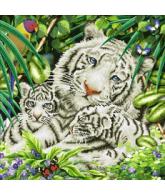 Diamond dotz white tigers & cubs