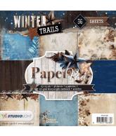 WINTER TRAILS PAPER PAD 15X15CM NR 98 BLAUW