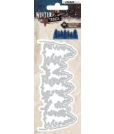 WINTER TRAILS SNIJMAL 133X57MM NR 106 KERSTBOMEN