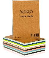 Mixed carton blocks A6 60 sheets (assorti)