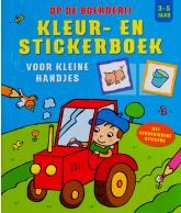 Kleur- en stickerboek op de boerderij