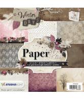 Winter days paper pad 15x15cm nr 99 roze grijs oktober 2018