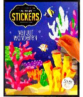 Kleuren met stickers natuur wonderen