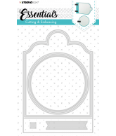 Snijmal essentials ticketmal nr 165 vierkant met rondje 202x137