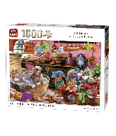 Puzzle kittens in the kitchen (animal collection) 1000pcs