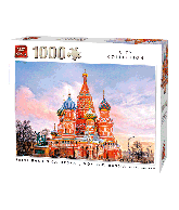 Puzzle Saint Basil, Moscow (City Collage) 1000 pcs