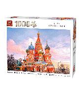 Puzzle Saint Basil, Moscow (City Collage) 1000 pcs