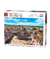 Puzzle city hall and market, delft 1000 pcs