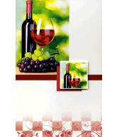 Kaart blanco wijn Luxe wenskaart met 3D effect