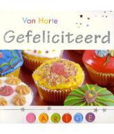 Kaart Gefeliciteerd cupcake, luxe 3D wenskaart met glitter en folie
