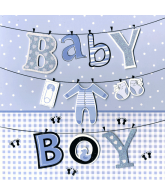 Kaart Baby boy, luxe 3D wenskaart met folie