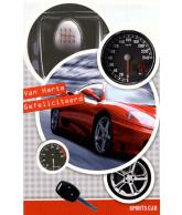 Kaart Van Harte Gefeliciteerd Sportcar Ferrari, luxe 3D wenskaart