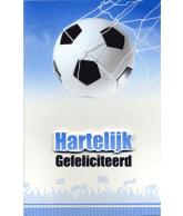 Kaart Hartelijk Gefeliciteerd Voetbal, luxe 3D wenskaart