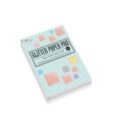 Glitter papier blok A4 10kleur 10vel 180gr