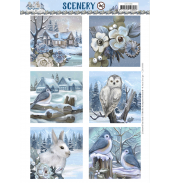 Pushout vel awesome winter amy design scenery square